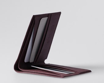 Minimalist Super-Thin Washable Paper Bi-Fold Wallet in Uluru Red / Vegan Wallet / Thin Bifold / Paper Wallet / Mens Wallet