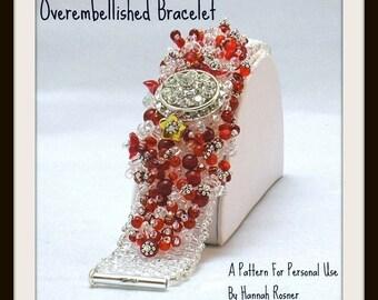 Bead Tutorial - Beginning Peyote Stitch - Overembellished Fluffy Beaded Bracelet pattern instructions tutorial - Hannah Rosner