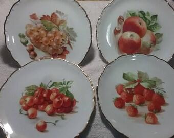 Schumann Arzberg Germany fruit plates. Set of 8.