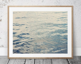 Printable Photography, Water, Ocean Photo, Beach Decor, Water Ripples, Digital Download