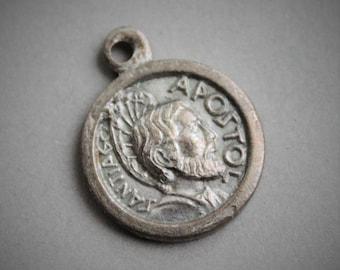 RARE Spanish Antique St James the Apostle Santiago Holy Door Relic Medal