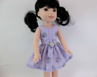 "Doll Dress for 14.5"" Doll Lilac Sleeveless Dress Fits Wellie Wishers and Similar Dolls"