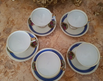 Antique Germany Cafe Cups 5pcs
