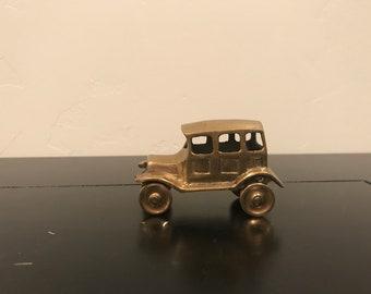 Vintage Brass Cast Old Fashion Car
