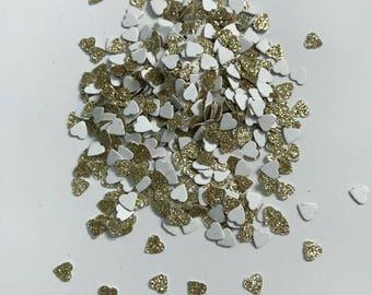 Tiny Glitter Heart Confetti