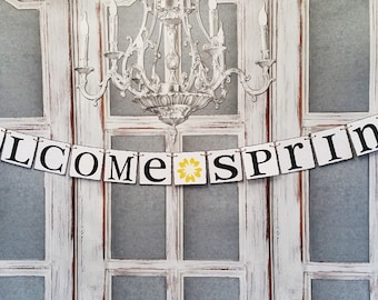 Garden Party Decor, Welcome Spring Signs, Easter Decorations, Spring Decorations