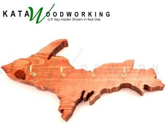 Michian Upper Peninsula Keychain & Key Holder.  Handmade!