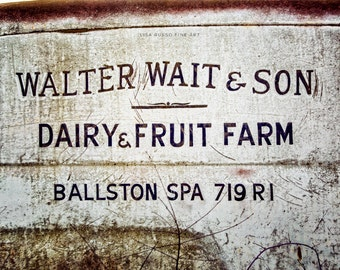 "Rustic Kitchen Decor, ""Dairy and Fruit Farm"" Country Kitchen Wall Art, Ballston Spa, Vintage Kitchen Art Print or Canvas Art."