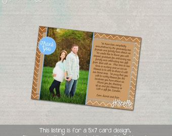 Baby Shower Thank You Card with Picture