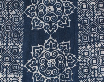 Blue and white Hmong batik fabric