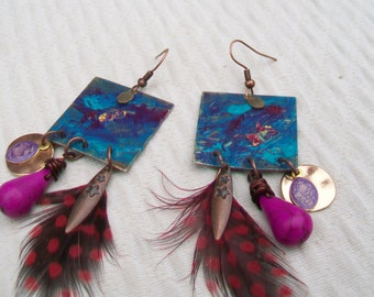Earrings ethnic spirit Bohemian Art collection