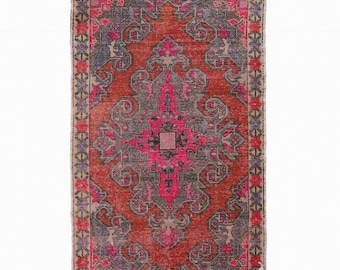Oushak Rug Overdyed Rug Turkish Runner Rug FREE SHIPPING! / 4'3''x6'6'' ft