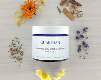 HEALING SALVE • Guardian • Eczema • Psoriasis • Sensitive • Dermatitis • Calendula • Comfrey • Organic Salve • Natural Salve • Herbal Salve