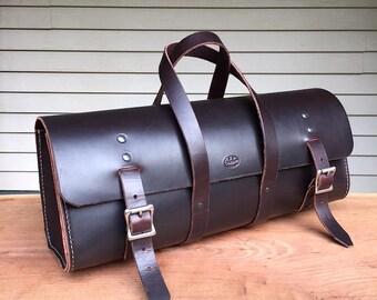 Leather Tool Bag, leather work bag, general purpose tool bag, men's leather bag, messenger bag, utility bag, garny, dark brown