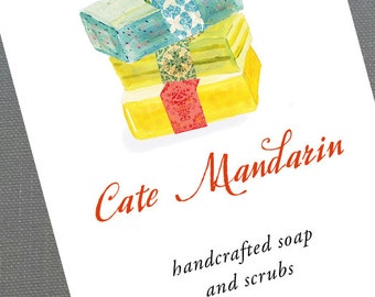Soap Business card, card for Soap maker, Handmade Soap, Handcrafted Bath - Set of 50