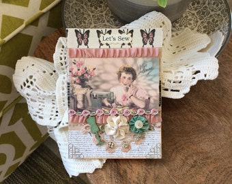 Seamstress Card - Vogue Sewing Card - Old Fashioned Card - Friendship Sewing Card