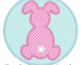Circle Bunny Applique Design