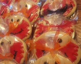 12 Elmo and Abby Birthday party Cookies