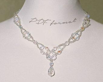 Beaded Necklace/Necklace Pattern/Necklace Tutorial/Beaded Necklace Pattern/Beading Tutorials/Beading Patterns/Bead Necklace/Jewelry Pattern