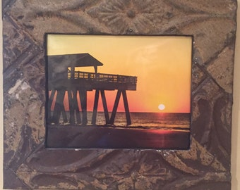Ceiling Tin Picture Frame 8x10