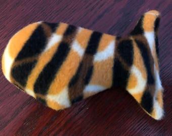 Fleece catnip fish toy