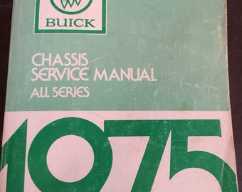Vintage 1975 Buick Chassis Service Manual All Series Book