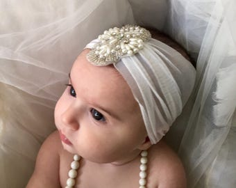 Boho Baby Headband, Newborn Headbands, Baby Girl Headband, Baby Headband, unique baby gift, Infant headband, newborn girl headband