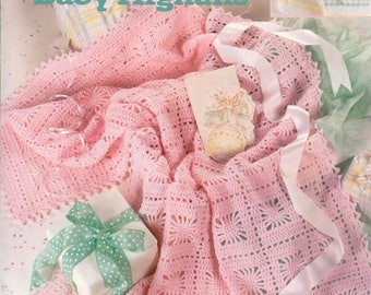 Snuggle-Up Baby Afghans ~  Crochet, Soft Cover Book  ~  Leisure Arts ~  New Condition