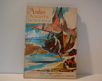 The Arabian Nights Picture Book, 1959, vintage kids book