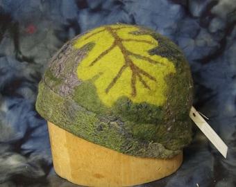 Felted Oak Leaf Hat