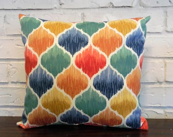 Moroccan Ogee Indoor Outdoor Throw Pillow 14 Inches