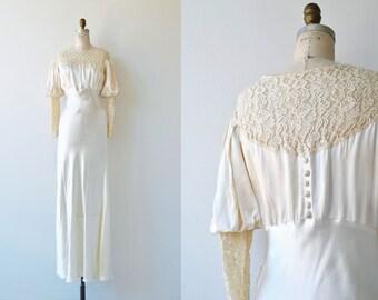 Sposa Pallido wedding gown | 1930s wedding dress | vintage 30s wedding dress