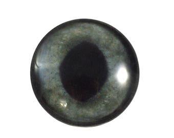 30mm Dark Gray Glass Cat Eye for Animal Pendant Jewelry Making or Realistic Taxidermy Doll Eyeball Flatback Handmade Circle Cabochon