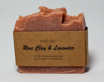 Rose Clay with Lavender Soap