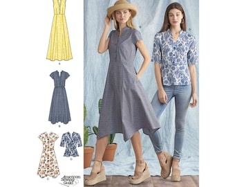 Simplicity Sewing Pattern 8384 Misses' Dress with Length Variations and Top