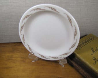 Homer Laughlin - Best China - Creamy White Bread and Butter Plate - Tan Feather - Restaurant Ware