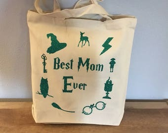 Best Mom Ever Harry Potter Themed Tote