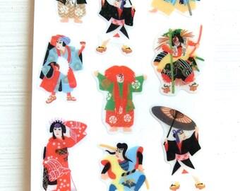 Japanese Kabuki Stickers