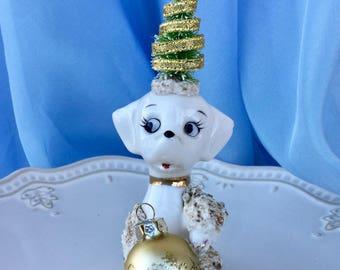 Christmas Decoration  Vintage Poodle Christmas Ornament Christmas Decor TVAT