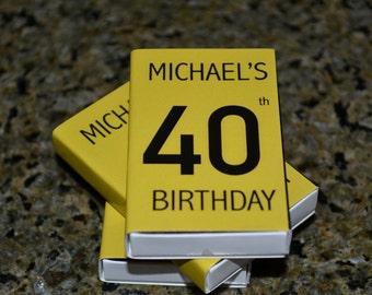 25 Custom Designed Matchbox Birthday Favors _ Michael's