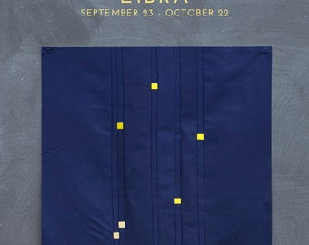 Libra Constellation Block PDF pattern - Quilting Patchwork