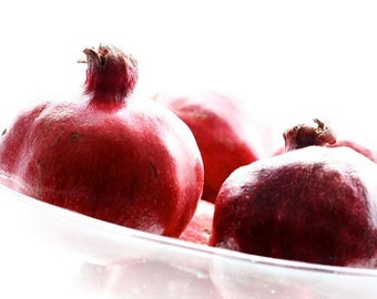 Pomegranates in a glass bowl, Fine art photograph, print 8x8