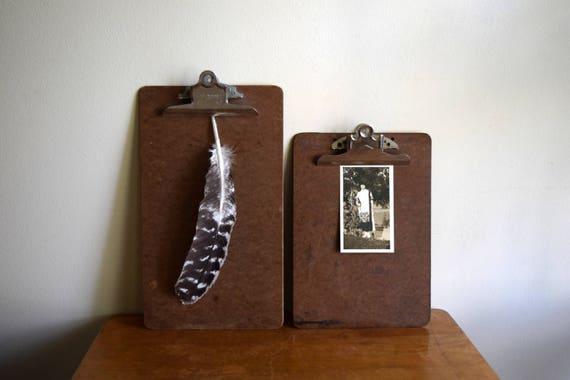 Vintage Brown Clipboards - Photo Prop, Artwork Display, Memo Board