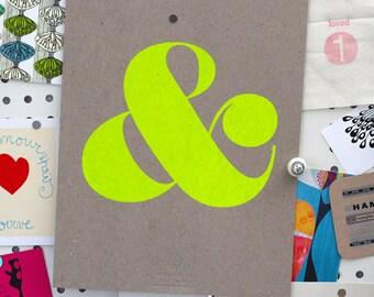 Ampersand Screen Print - Neon Yellow (3rd Edition)