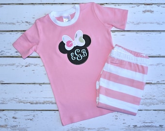 Magic Mouse Monogram Pajamas - Personalized Pajamas - Monogram Pajamas - JULIANNE ORIGINALS