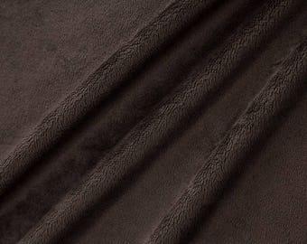 Minky fabric, velvet fabric minkee coupon chocolate short hair fabric
