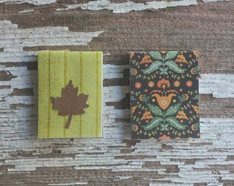 A Pair of Unique Bookmarks, Leaf Cutout, Fall Design | Book Accessory