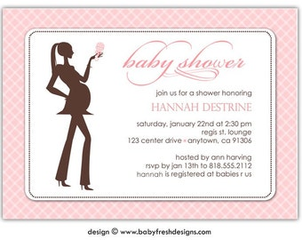 Digital File - Baby Shower Invitation //you can change the colors// Hannah design