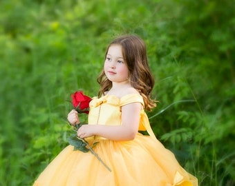 STOREWIDE SALE Princess Belle Tutu Dress- Belle Dress- Belle Costume- Beauty and the Beast