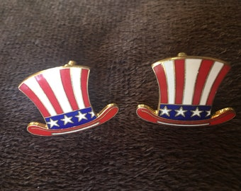 American Top Hat Cufflinks